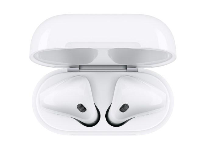 Słuchawki AirPods (widok z góry)