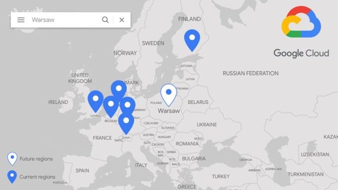 Region Google Cloud w Warszawie