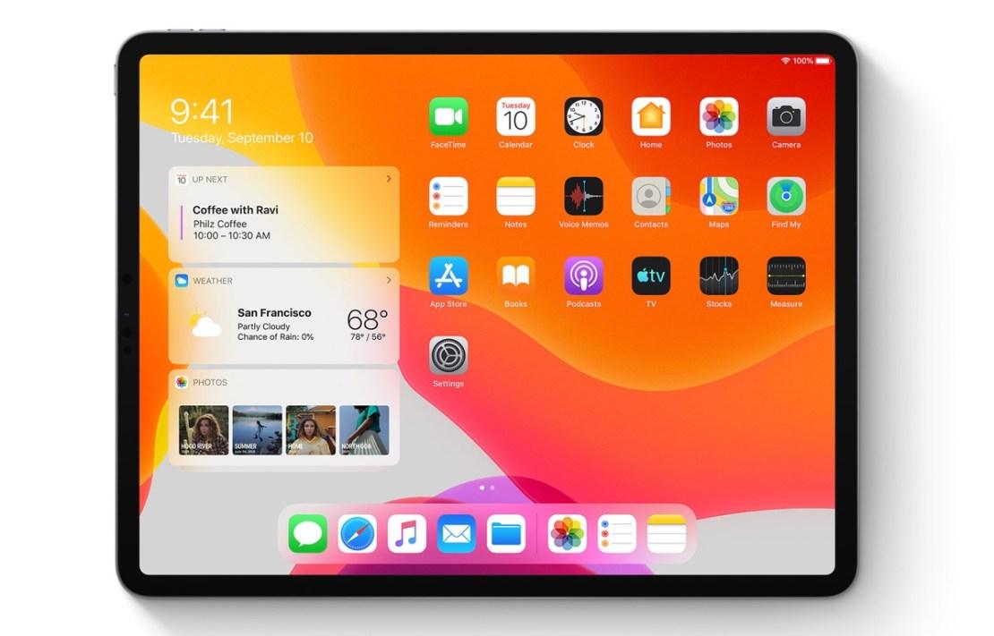 iPadOS 13 (zrzut ekranu, widgety)