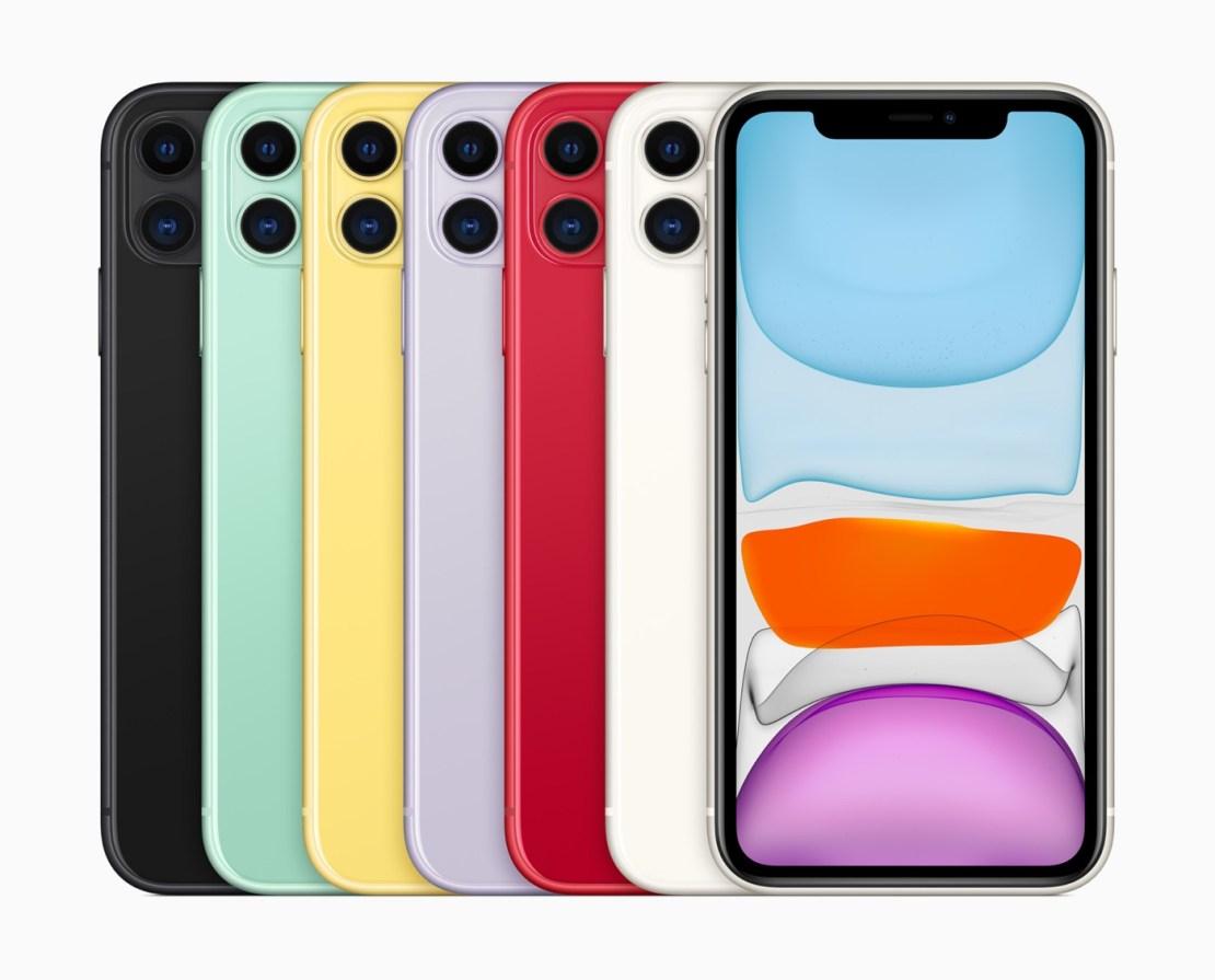iPhone 11 w sześciu kolorach