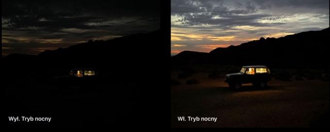 Tryb nocny w aparacie