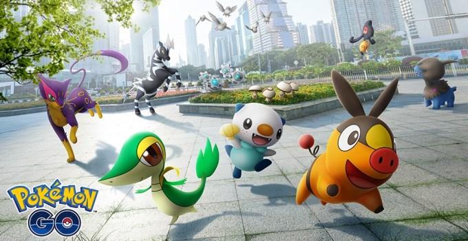 5. generacja z regionu Unova w grze Pokemon GO
