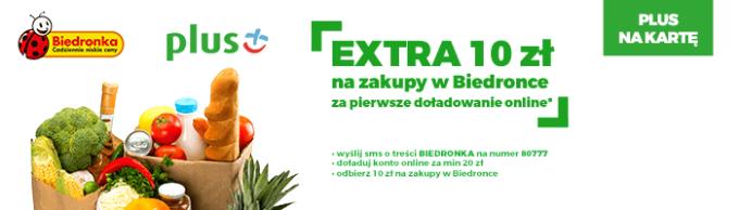 """Oferta Promocji """"Zakupy w Biedronce od Plusa"""""""