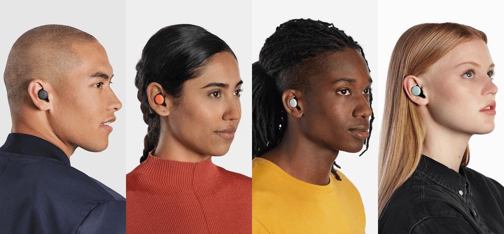 Różne kolory słuchawek Google Pixel Buds