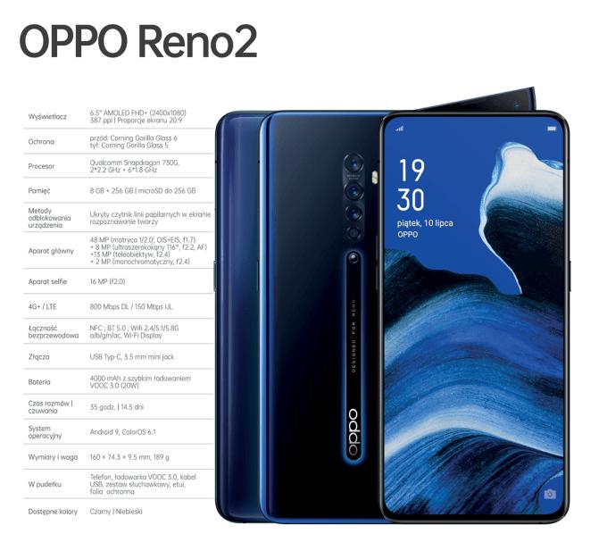 Specyfikacja techniczna Oppo Reno2