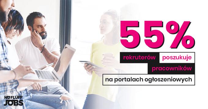 55% rekruterów prowadzi rekrutację na portalach ogłoszeniowych