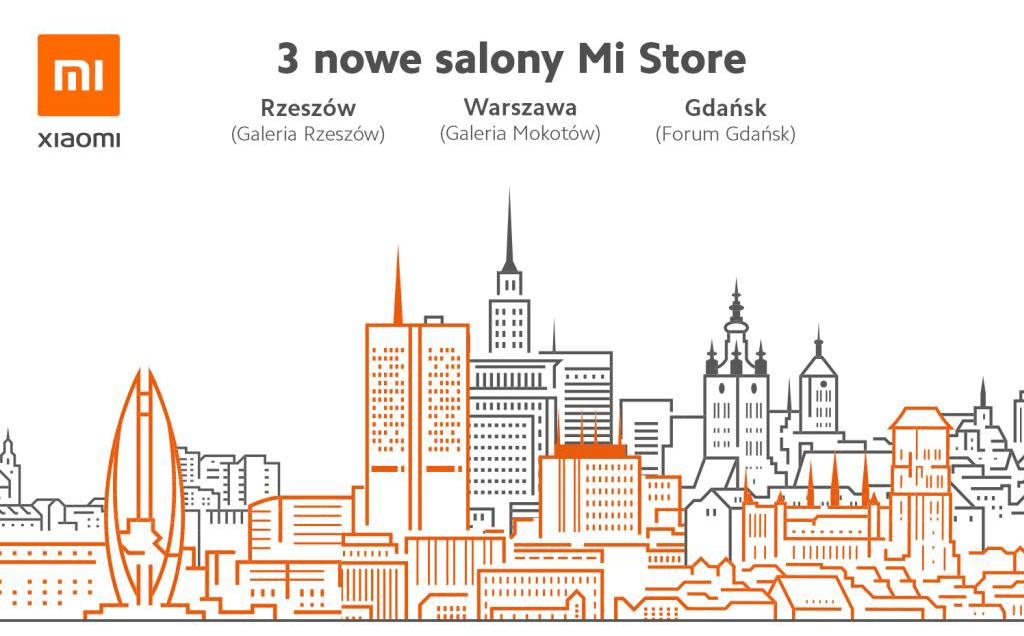 3 nowe salony MiStore w Polsce (l29 listopada 2019 r.)