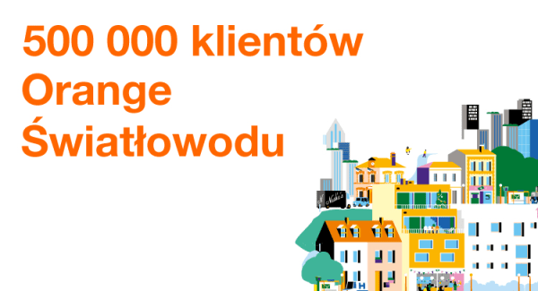 Pół miliona osób korzysta ze światłowodu w Orange