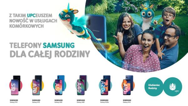 Smartfony Samsunga i więcej GB w ofercie komórkowej UPC
