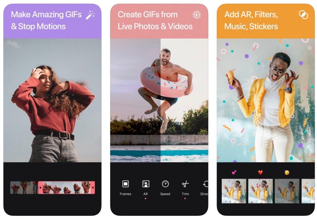 Zrzuty ekranu z aplikacji GIF Maker by Momento