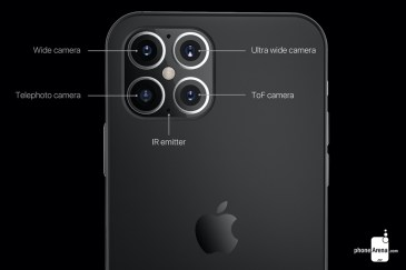 Koncept iPhone 12 - kamery (PhoneArena)