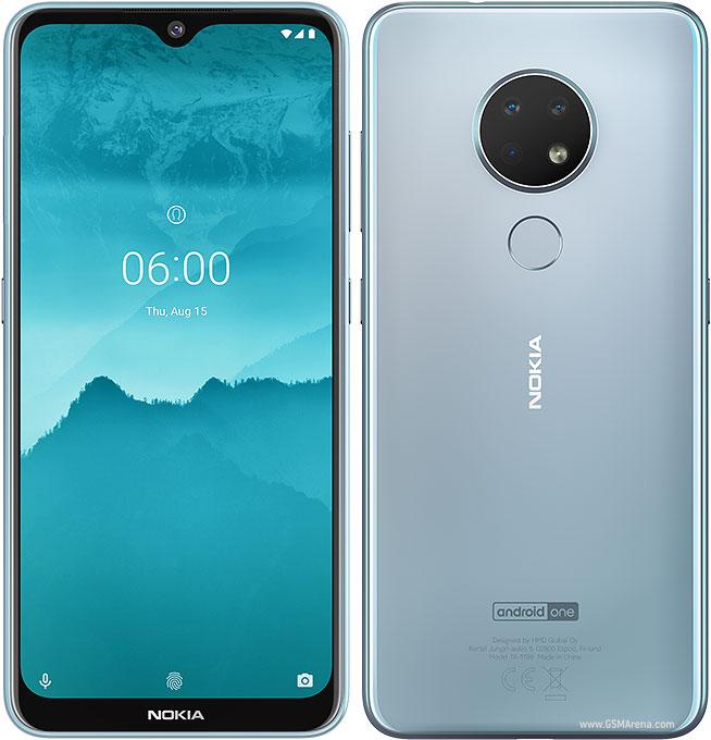 Nokia 6.2 (przód i tył)