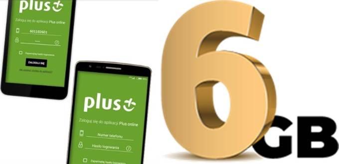 PAKIET EKSTRA 6 GB za Mobilną Aplikację Plus Online!
