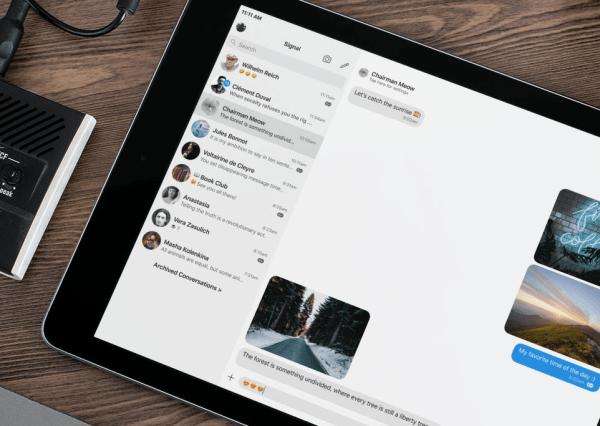 Signal 3.0 został zoptymalizowany na iPady