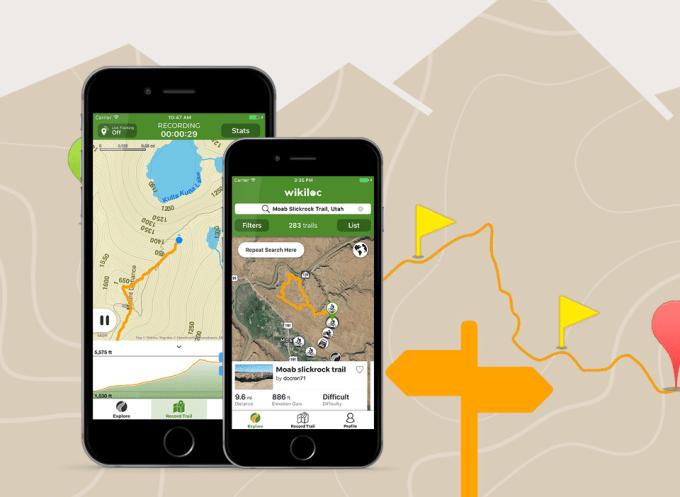 "Aplikacja mobilna ""Wikiloc Outdoor Navigation GPS"""