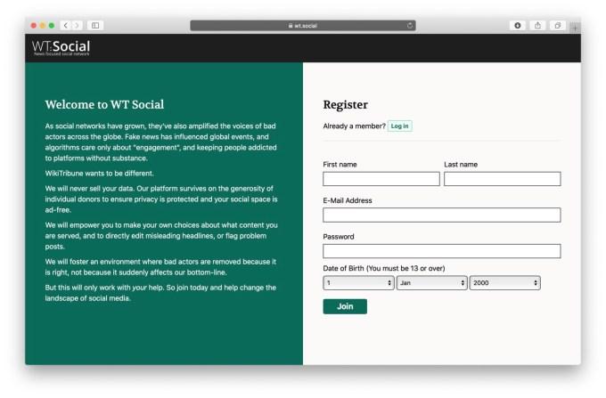 Rejestracja w serwisie WT:Social