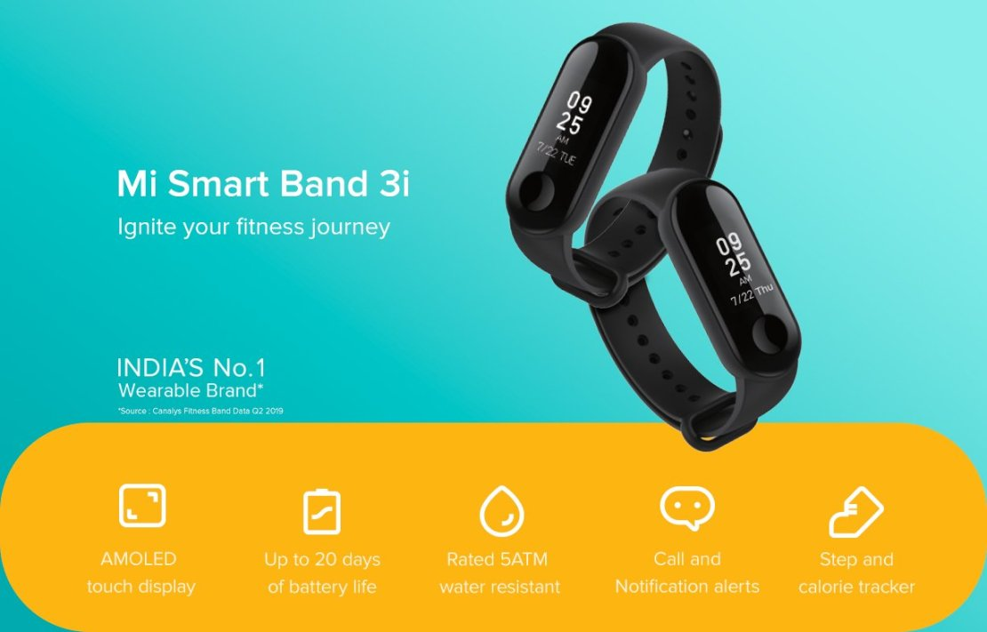 Xiaomi Mi Smart Band 3i (Indie 2019)