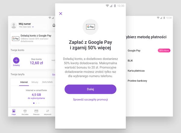 Nawet 20 zł więcej przy doładowaniu w Play24 z Google Pay!