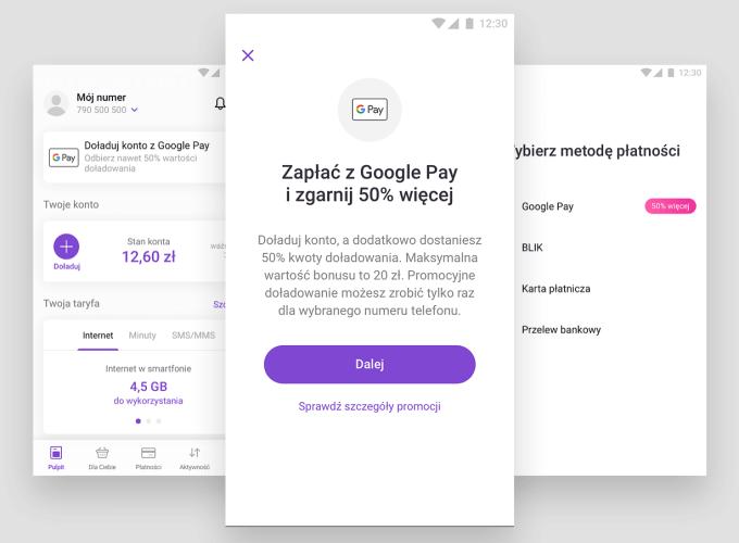 Promocja doładowań w aplikacji Play24 z Google Pay!