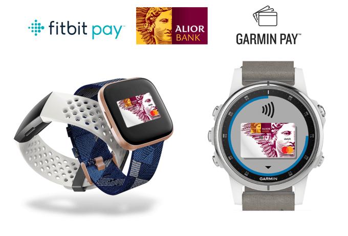 Fitbit Pay oraz Garmin Pay dostępne także w Alior Banku
