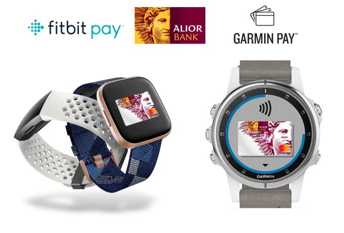 Fitbit Pay i Garmin Pay w Alior Banku