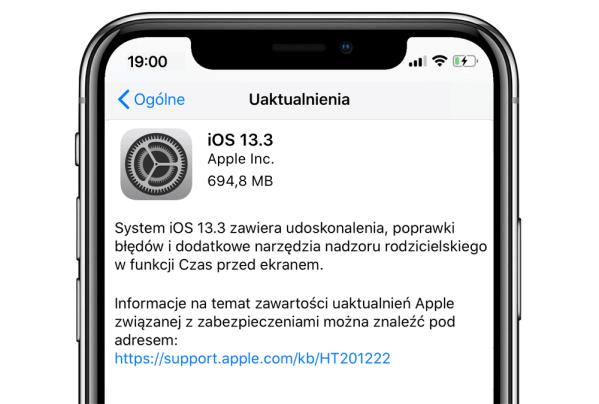 Co nowego w aktualizacji iOS 13.3 oraz iPadOS 13.3?