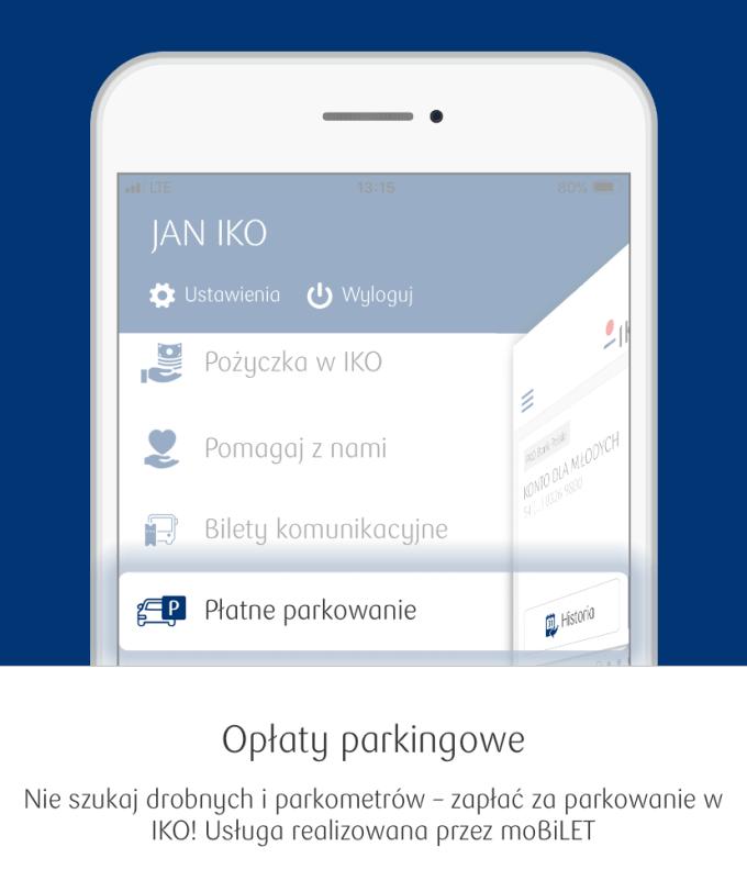 Opłaty parkingowe w aplikacji IKO na iOS-a