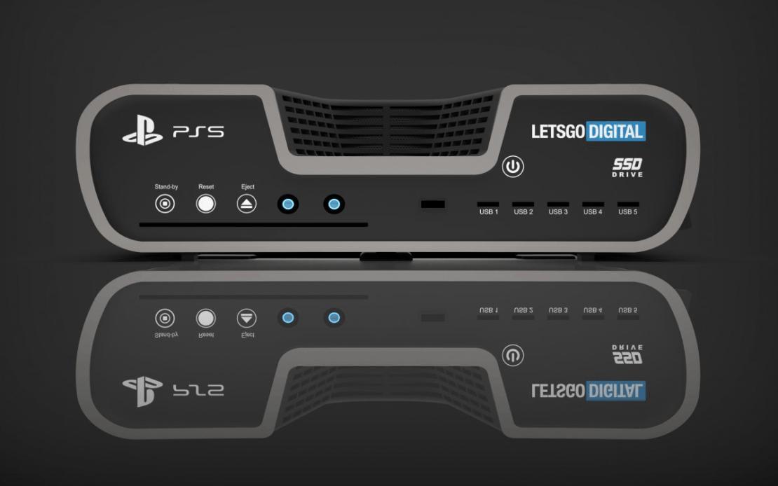Render programistycznej konsoli PS5