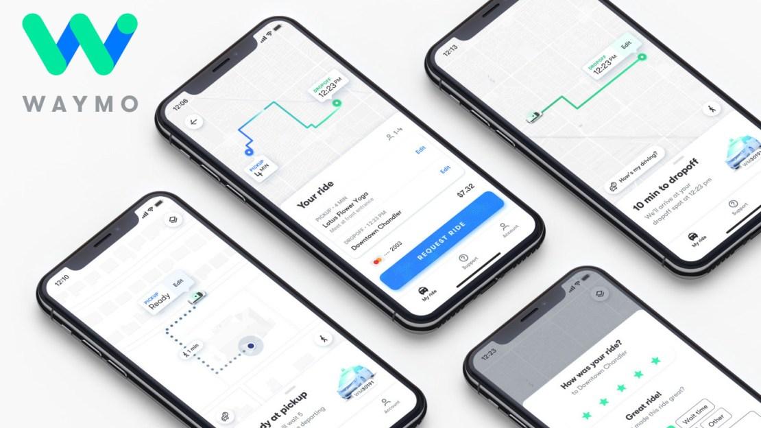Aplikacja mobilna Waymo