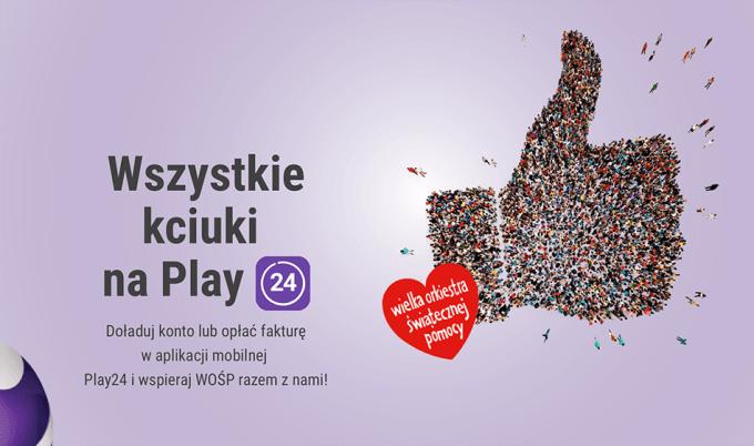 Wszystkie kciuki w górę w aplikacji Play24 dla WOŚP