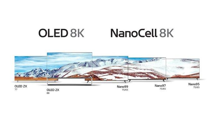 LG OLED 8K i Nanocell 8K