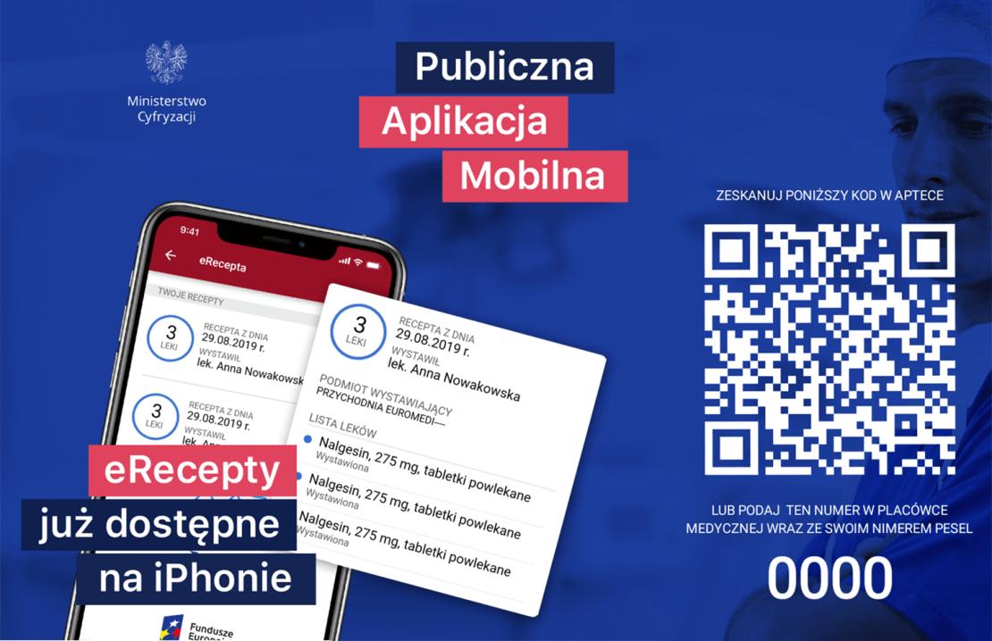 eRecepta dostępna na iPhonie (iOS) w aplikacji mObywatel