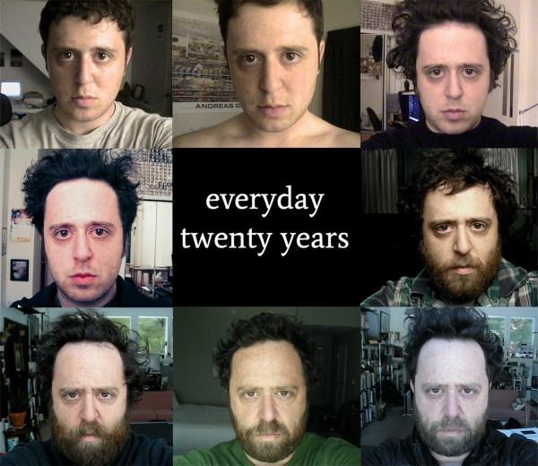 Przez 20 lat robił sobie zdjęcie każdego dnia i zrobił z tego wideo