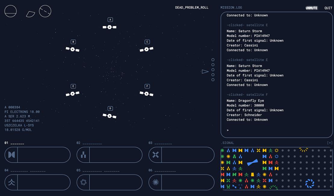 Gra przed Google I/O 2020 (sieć satelitów)