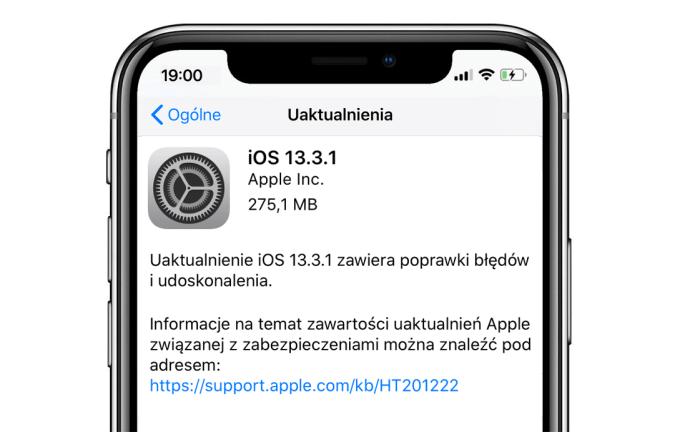 iOS 13.3.1 (update OTA)