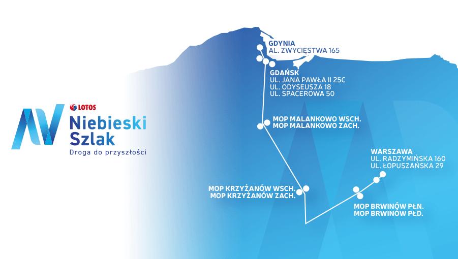 Mapa Niebieskiego Szlaku LOTOSU