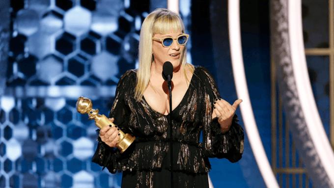 Patricia Arquette podczas rozdania Złotych Globów 2020