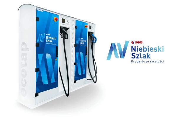 Płatne ładowanie aut elektrycznych na Niebieskim Szlaku LOTOSU