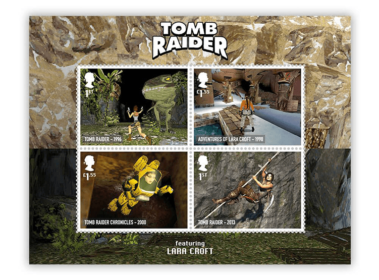 Znaczki pocztowe z grą Tomb Rider (Royal Mail UK)