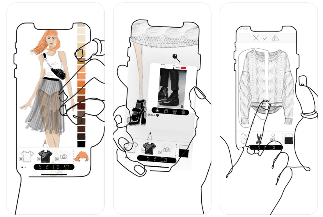 Prêt-à-Template aplikacja mobilna do projektowania ubrań