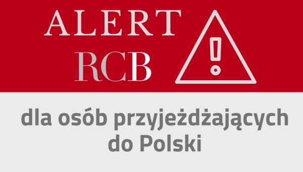 RCB wysyła SMS o koronawirusie do osób przyjeżdzających do Polski