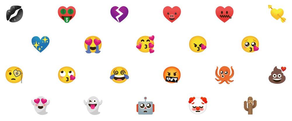 Oficjalne przykłady naklejek Emoji Kitchen
