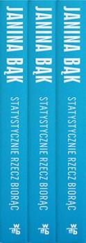 """Grzbiety książki """"Statystycznie rzecz biorąc"""""""