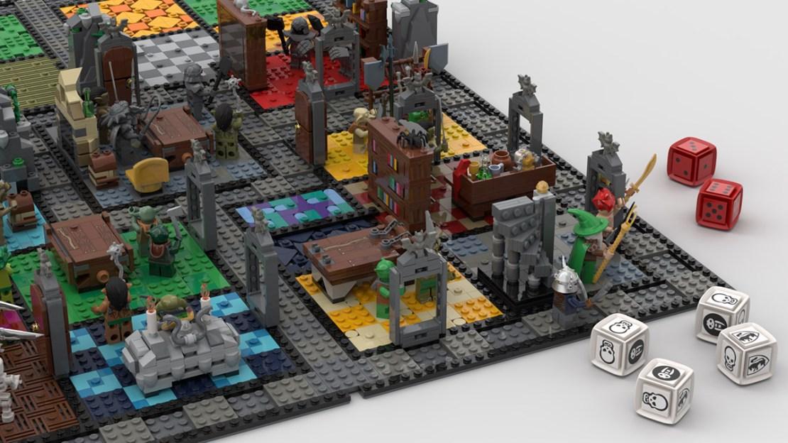Gra planszowa HeroQuest zrobiona z klocków LEGO