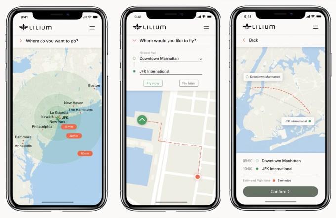 Zrzuty ekranu z aplikacji mobilnej Lilium