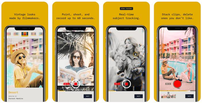 Zrzuty ekranu z aplikacji mobilnej RTRO