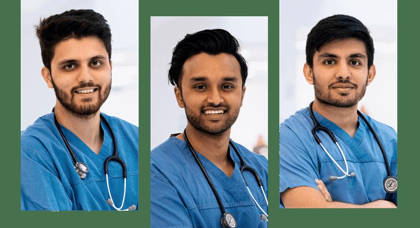 Założyciele Quit Genius (od lewej): dr Yusuf Sherwani, dr Maroof Ahmed idr Sarim Siddiqui.