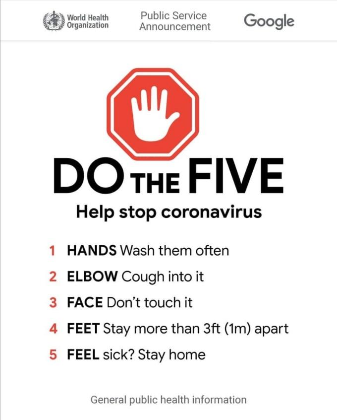 Do the Five - Help Stop Coronavirus
