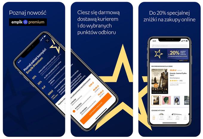 Aplikacja mobilna Empik GO (zrzuty ekranu)