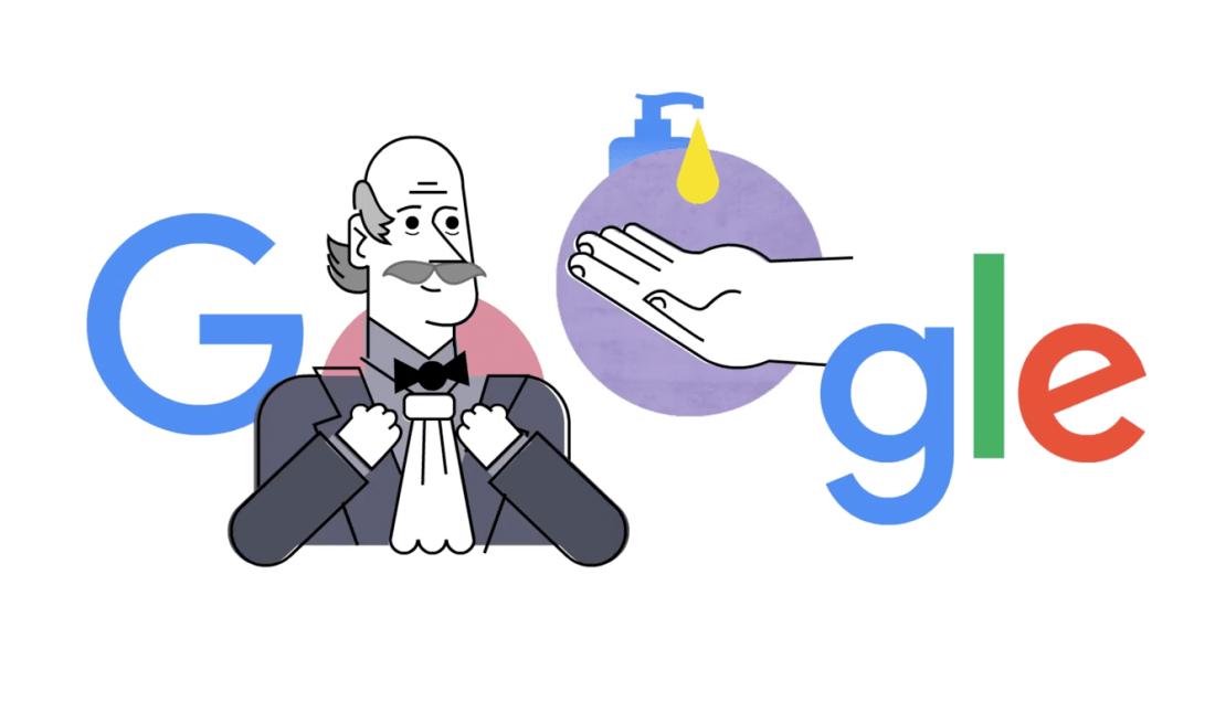 Google przypomina o myciu rąk i postać Ignaza Semmelweisa